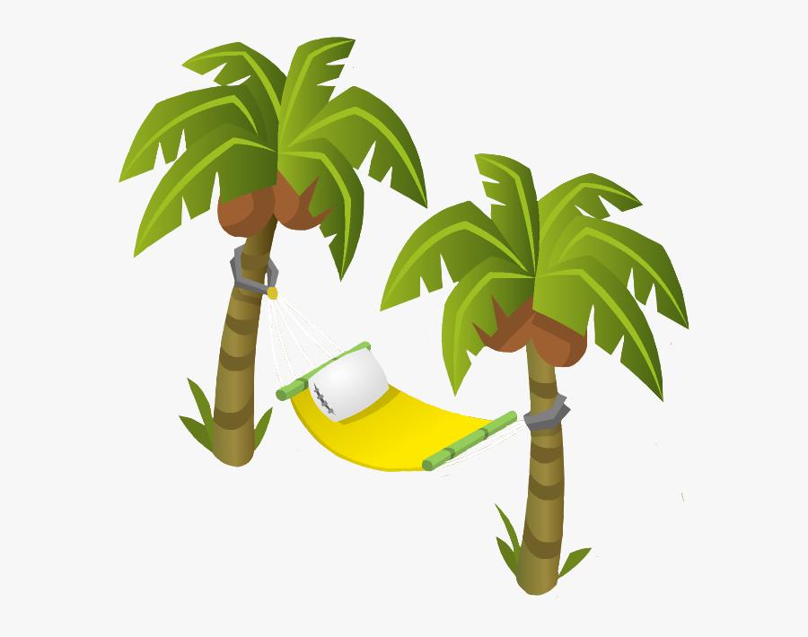 Palm Tree Hammock - Portable Network Graphics, Transparent Clipart