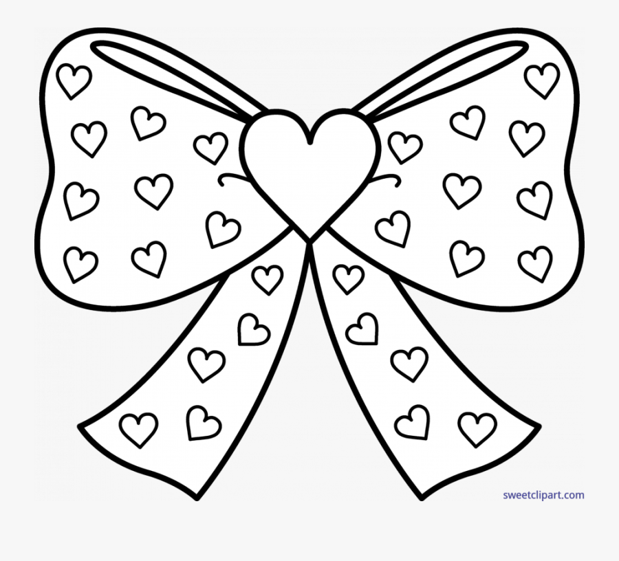 Christmas Bow Coloring Page Of A Tie Crossbow Gift - Jojo Bows Colouring Pages, Transparent Clipart