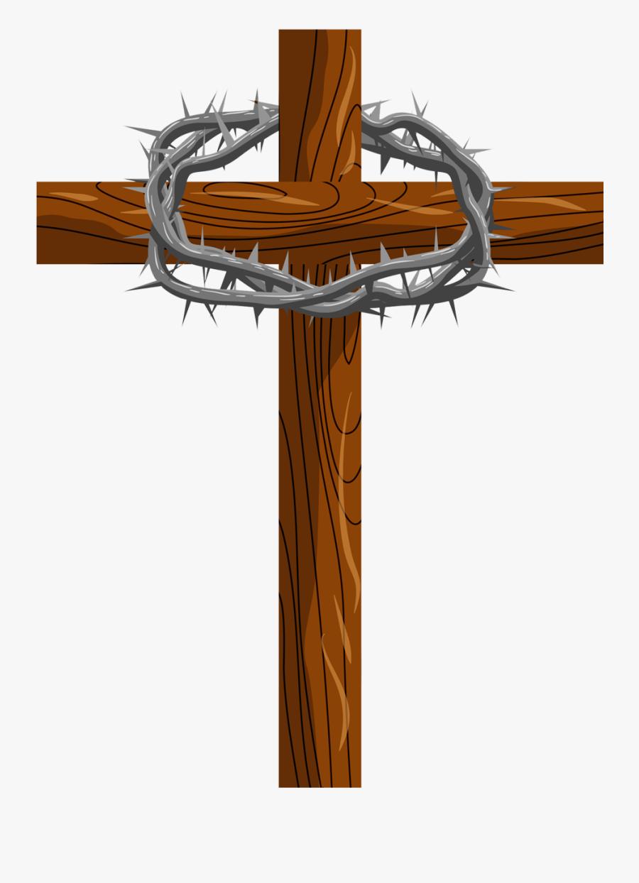 Cross And Thorns Png - Coroa De Espinho Desenho Png, Transparent Clipart