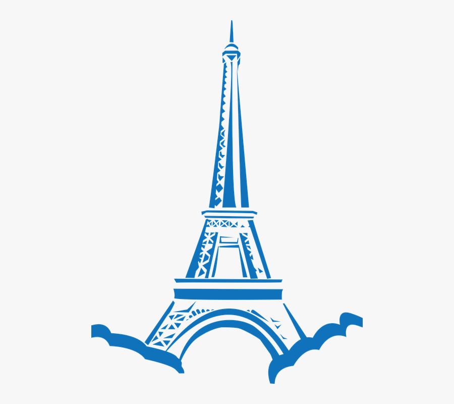 Paris Eiffel Tower Clip Art, Transparent Clipart