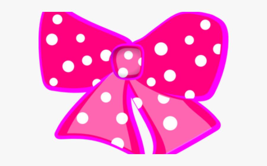 Dots Clipart Black Hair Bow - Minnie Mouse Logo Png, Transparent Clipart