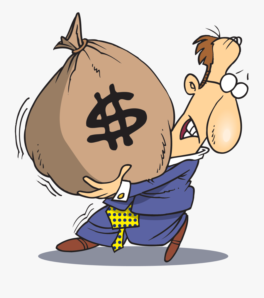 Transparent Stereotypes Clipart - Carrying Bag Of Money, Transparent Clipart