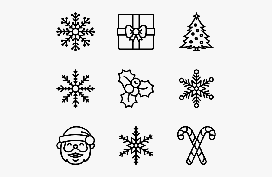 Winter Icon Vector - Snowflake Christmas Henna, Transparent Clipart