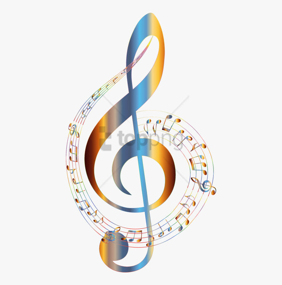 Music Notes Clipart Color - Colorful Music Notes Clipart, Transparent Clipart