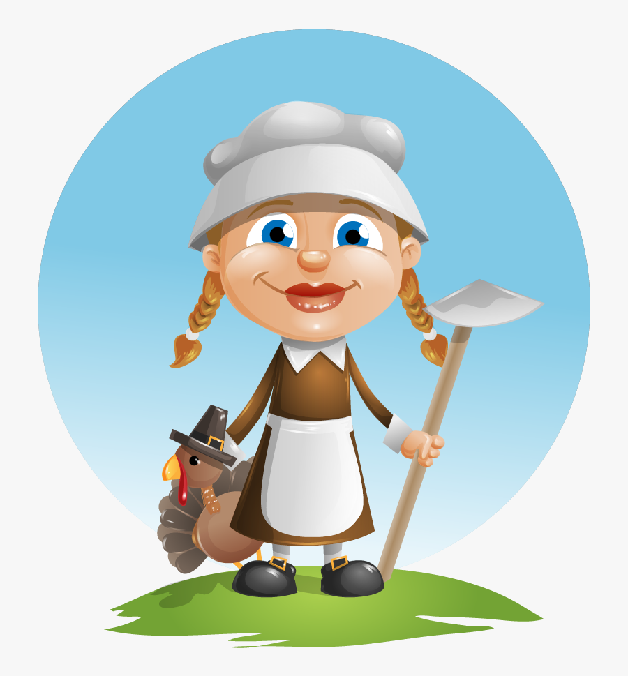 Collection Of With - Pilgrim Farmer Clipart, Transparent Clipart