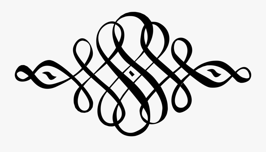 Line Art,calligraphy,area - Calligraphy Decorative Line Png, Transparent Clipart