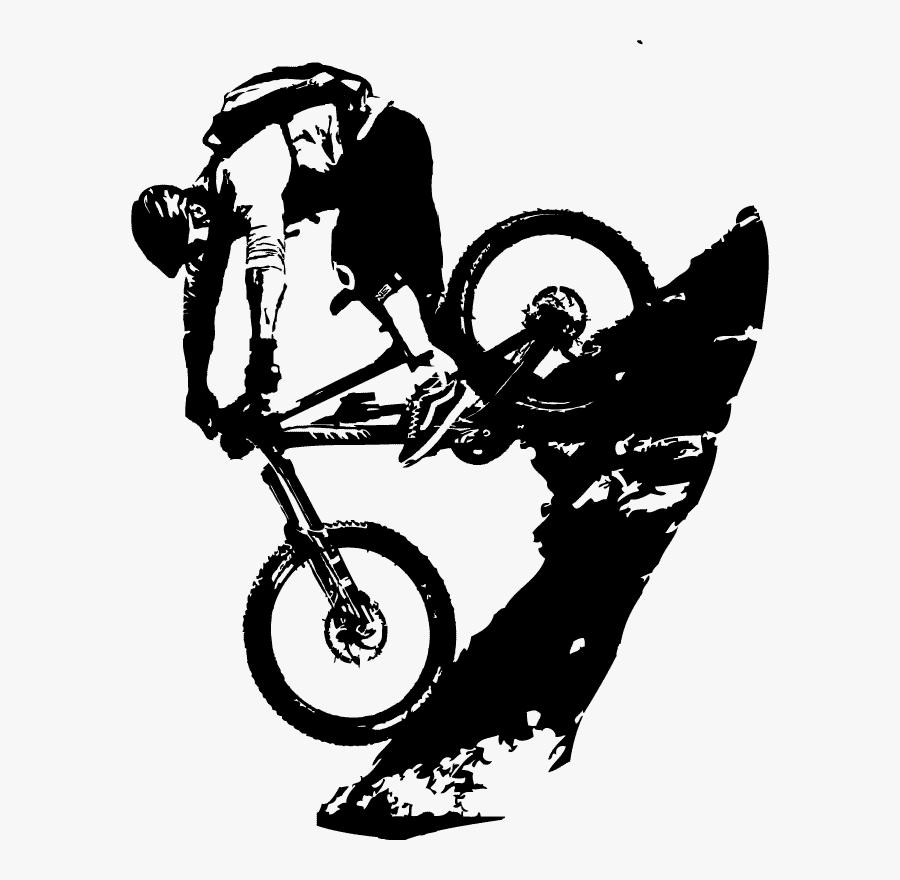 Drawn Bike Cycling Tattoo - Mountain Bike Tattoo Design, Transparent Clipart