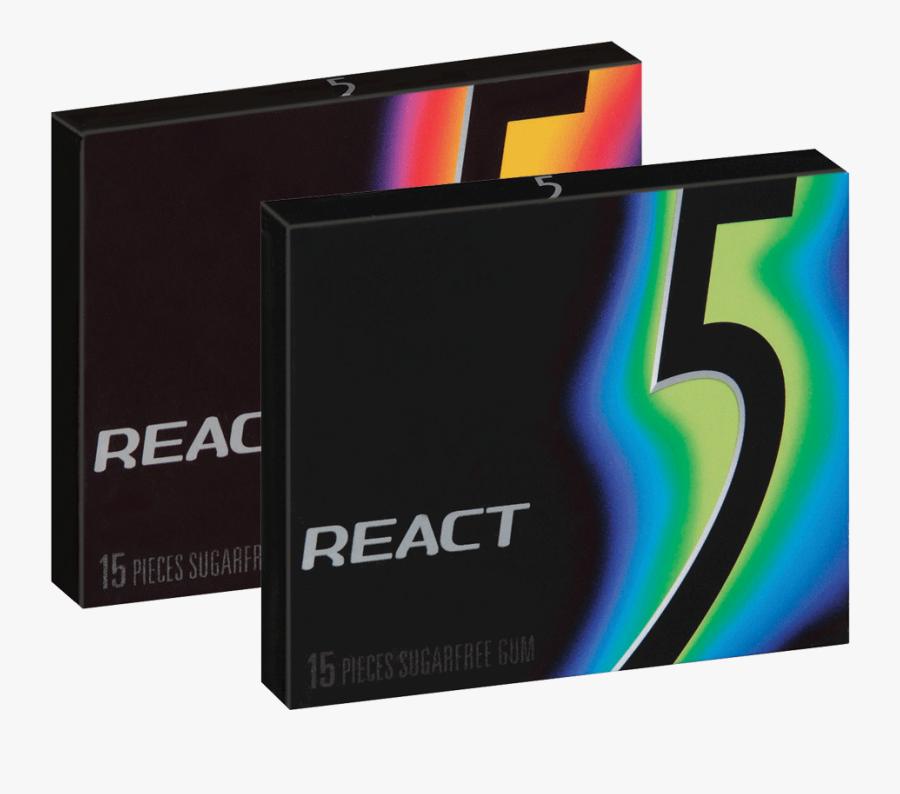 5 Gum React Clipart , Png Download - Chew 5 Gum Transparent, Transparent Clipart