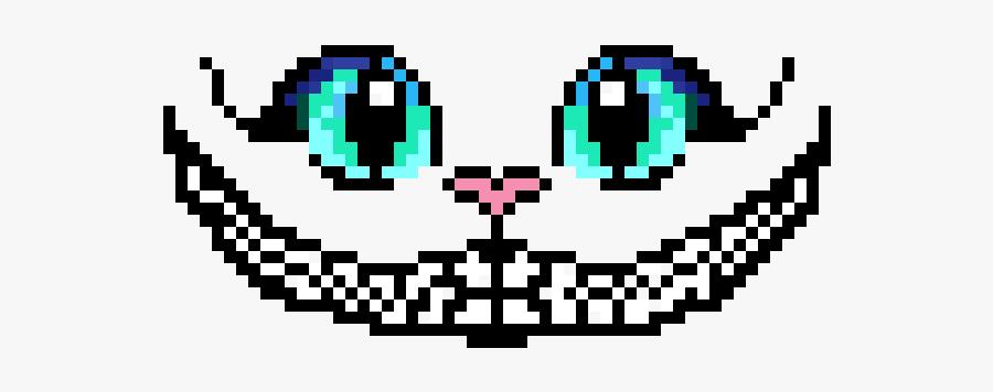 Cheshire Cat Smile Png - Alice In Wonderland Pixel Art, Transparent Clipart