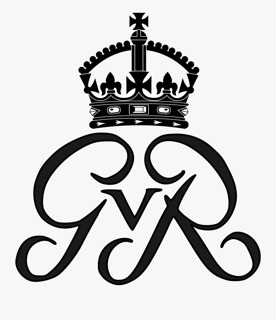 Crowns Clipart King Drawing - Queen Elizabeth Royal Monogram, Transparent Clipart