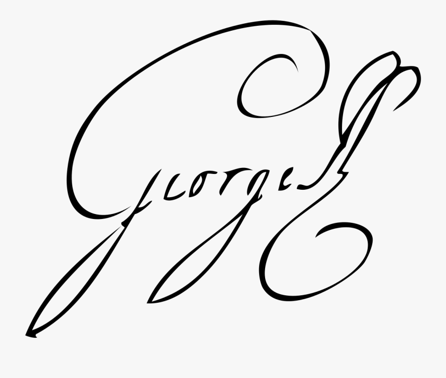 Transparent King George Iii Clipart - Signature For Name Starting With G, Transparent Clipart