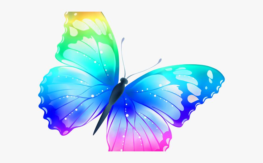 Rainbow Colour Butterfly, Transparent Clipart