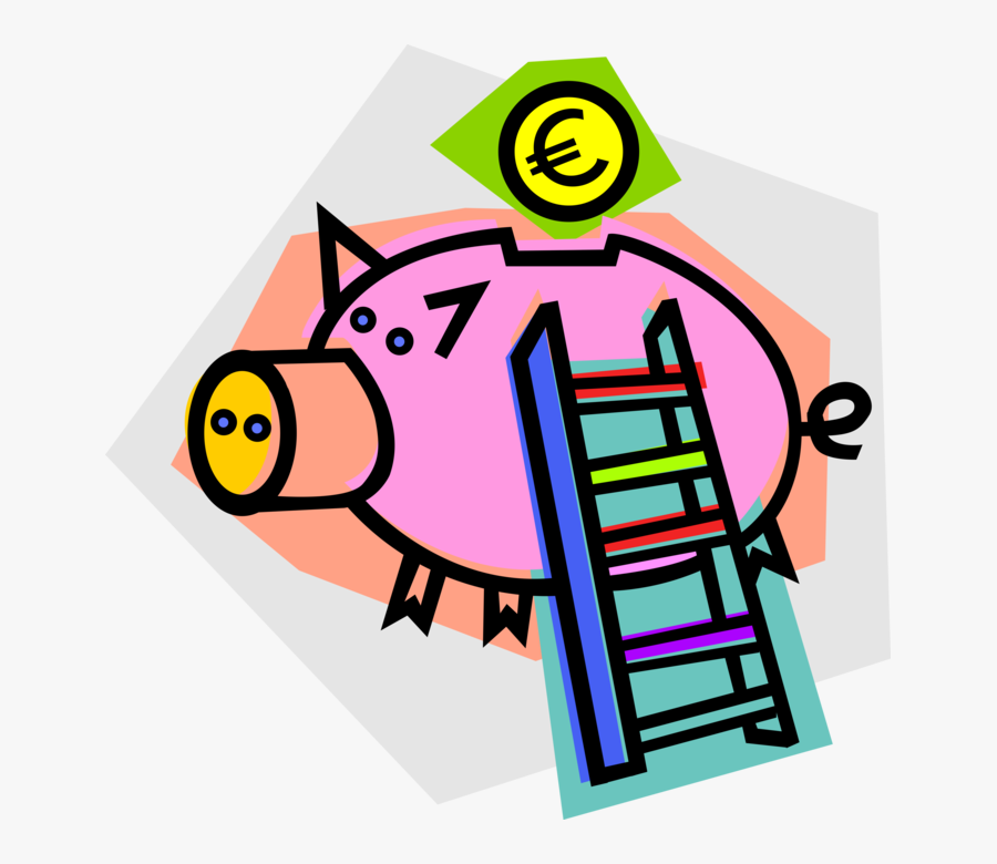 Vector Illustration Of Piggy Bank Money Coin Container - Finance, Transparent Clipart