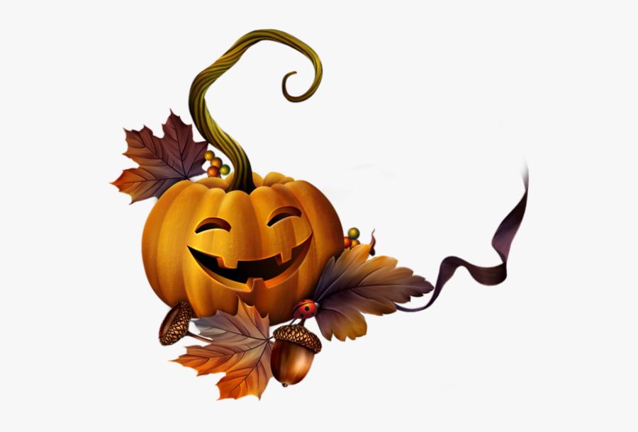 Pumpkin Cluster Clipart - Halloween Frames Tubes Png, Transparent Clipart
