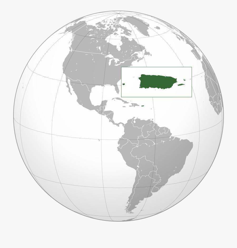 Clip Art Puerto Rico Pictures - Dominican Republic Map Globe, Transparent Clipart