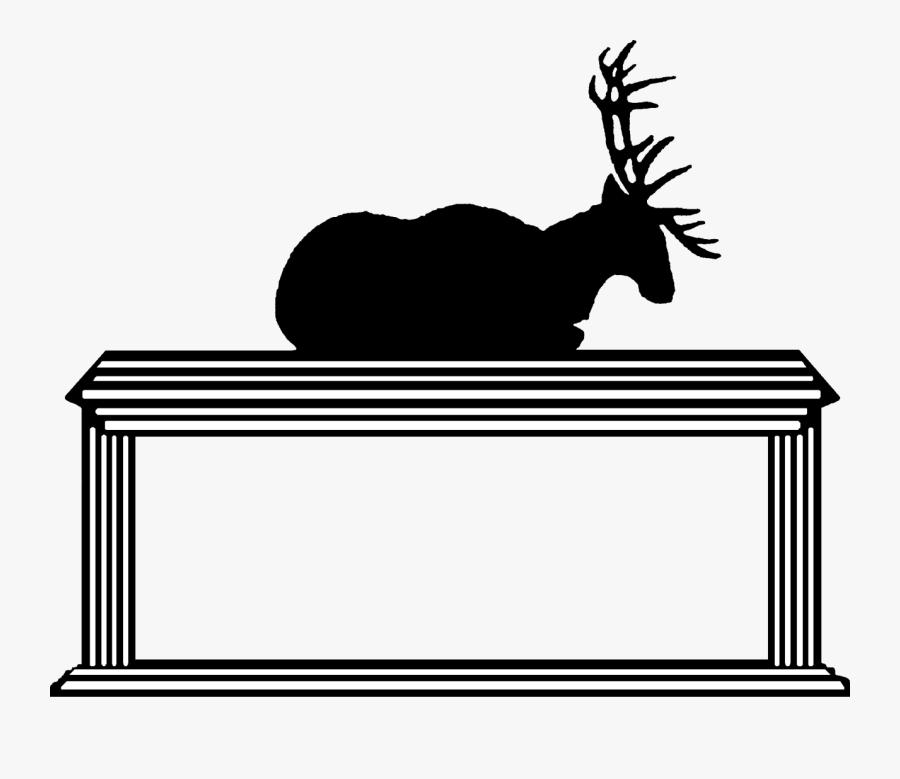 Reindeer Clip Art Silhouette Black Line - Elk, Transparent Clipart
