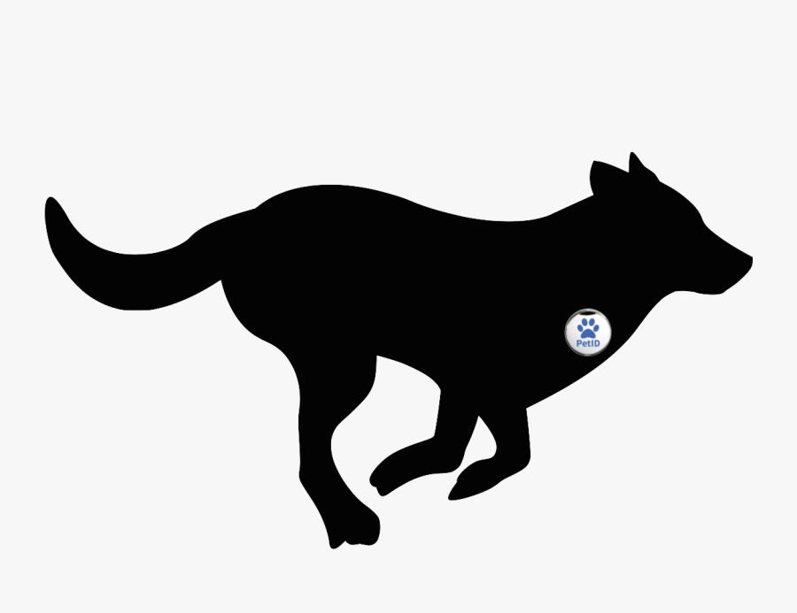 Whippet Puppy Silhouette Running - Dog Running Clipart, Transparent Clipart