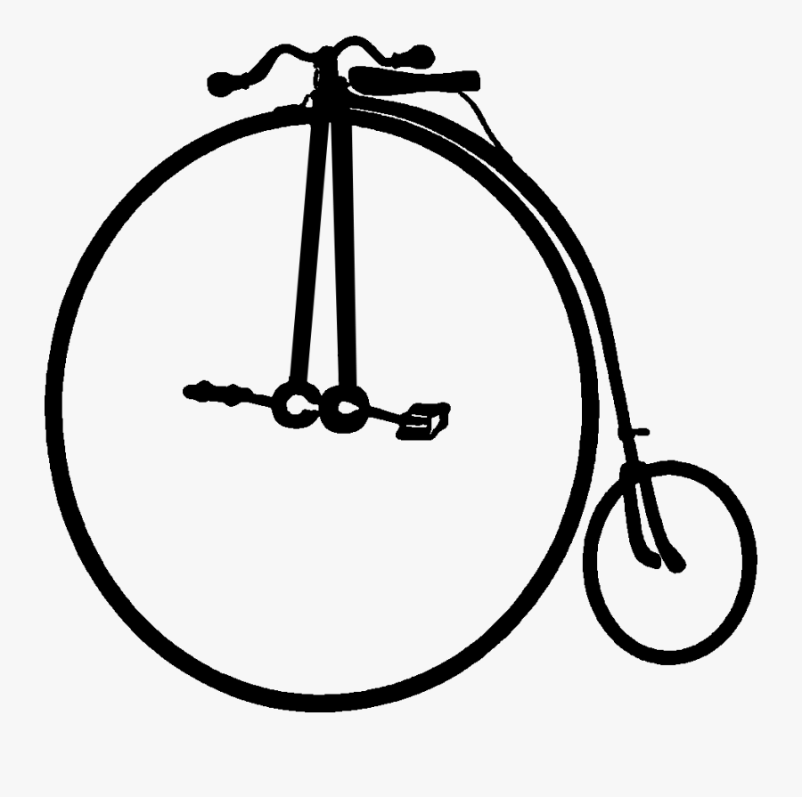 High Wheel Bicycles, Nick Named Penny Farthings In, Transparent Clipart