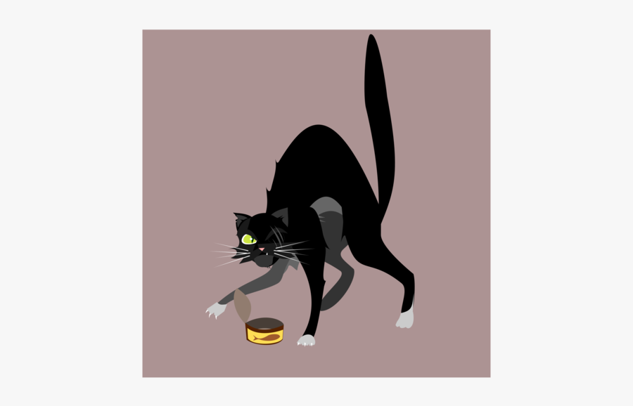 Paw,small To Medium Sized Cats,vertebrate - Cat, Transparent Clipart