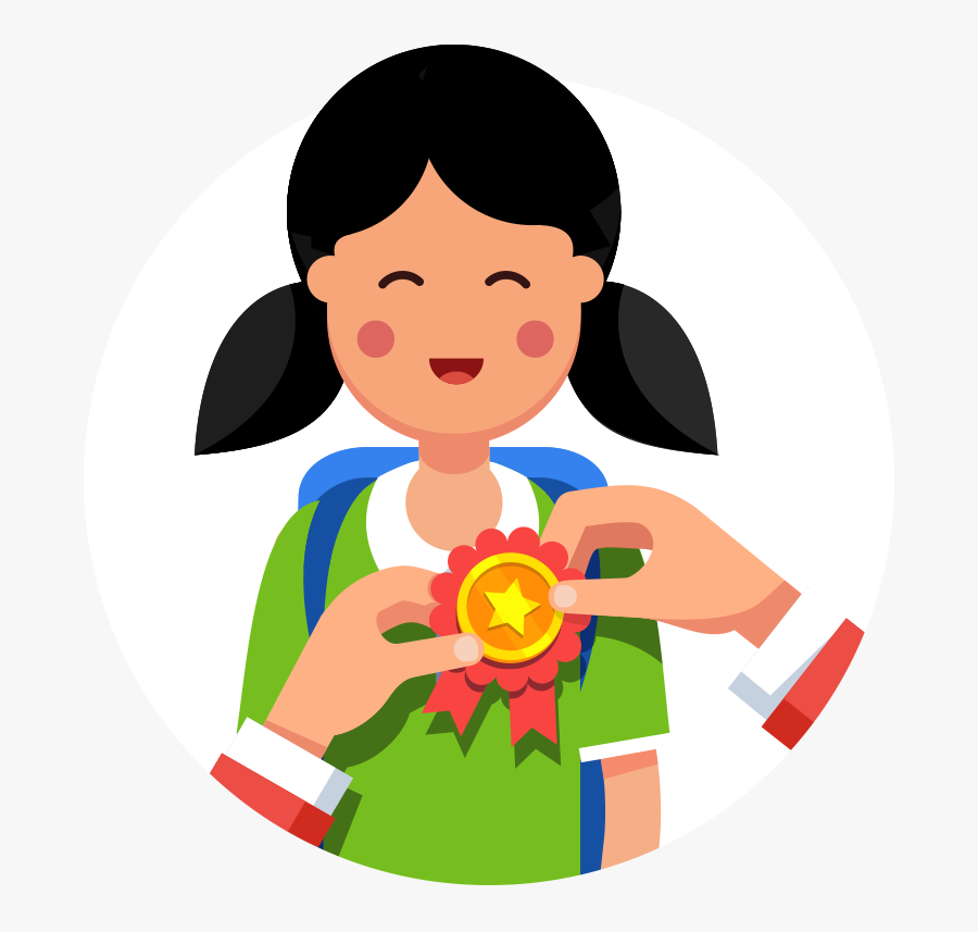Our Top Performer Program - Girl Holding A Book Clipart, Transparent Clipart
