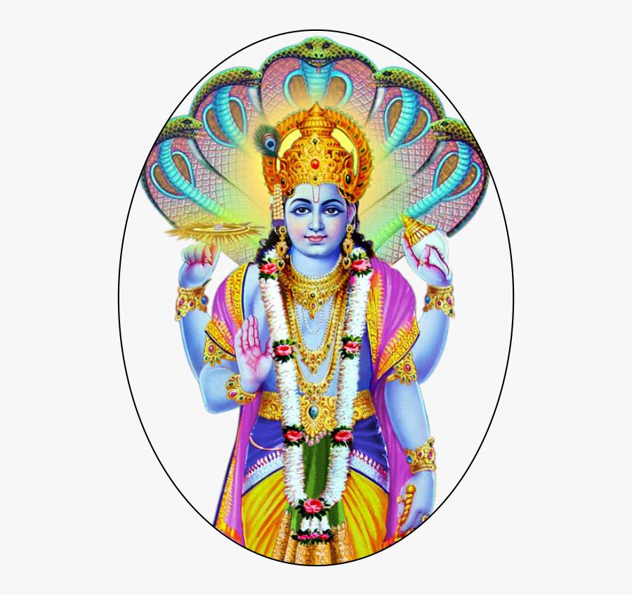 Transparent Lord Png - Vishnu Bhagwan Images Hd, Transparent Clipart
