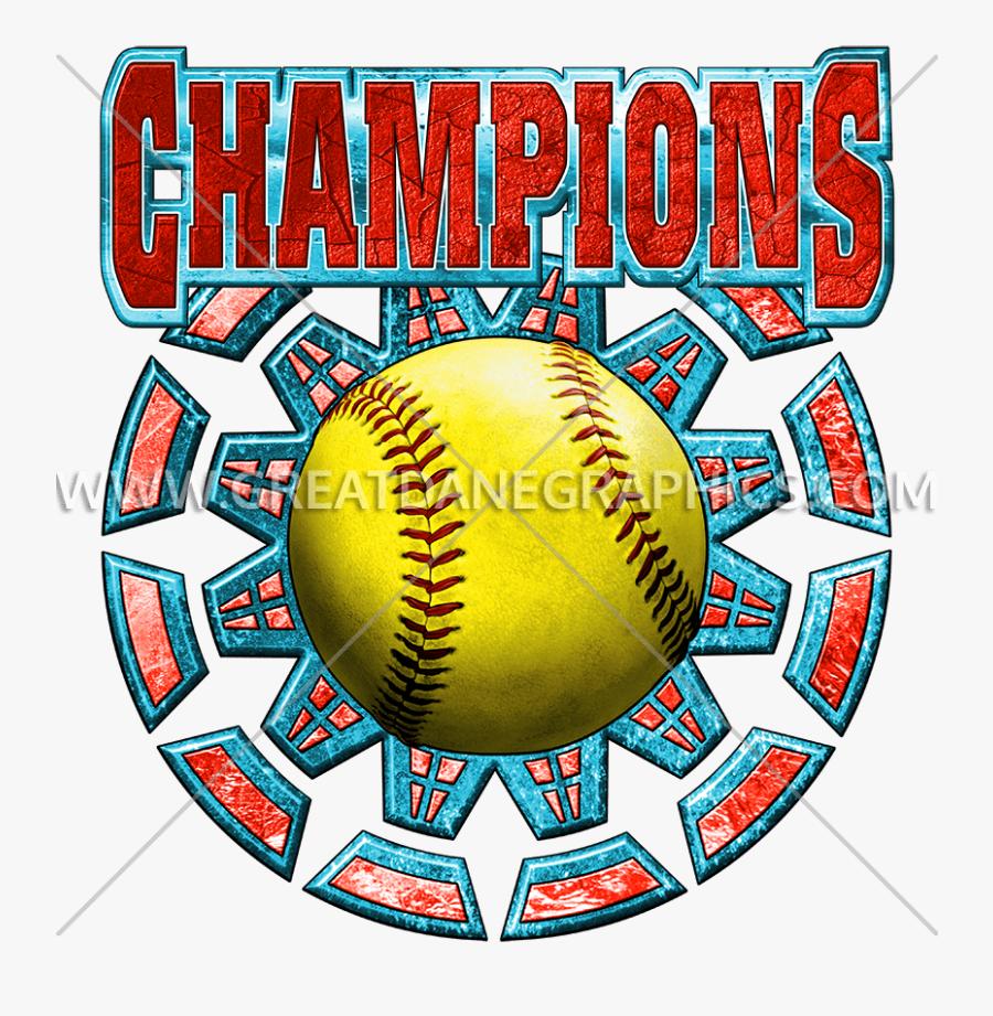 Clip Art Softball Pdf Clipart - Clip Art Basketball Champion Logo, Transparent Clipart