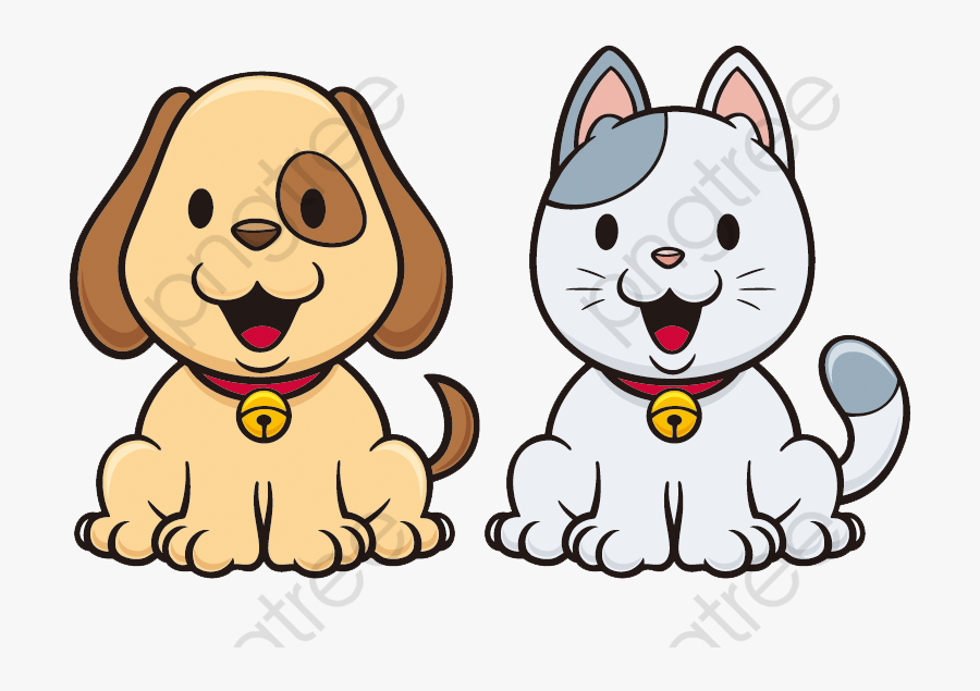 Clip Art Cartoon And Red Cat - Animated Cat And Dog, Transparent Clipart