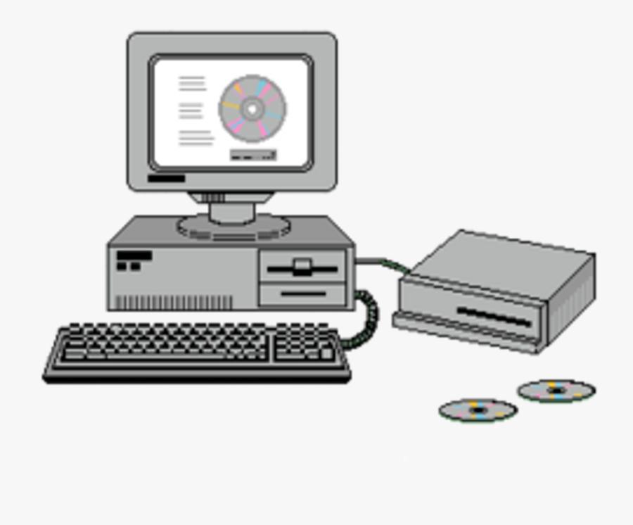 Transparent White Computer Png - Vaporwave Computer Transparent, Transparent Clipart