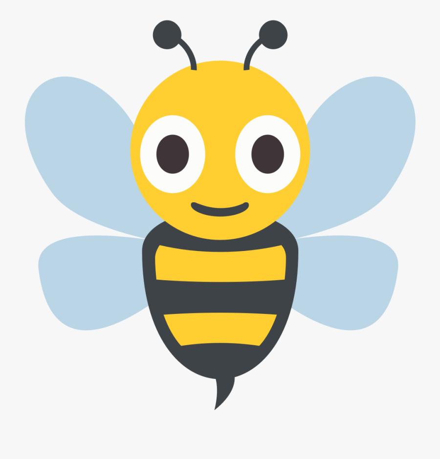 Transparent Bee Emoji Png - Bee Emoticon, Transparent Clipart