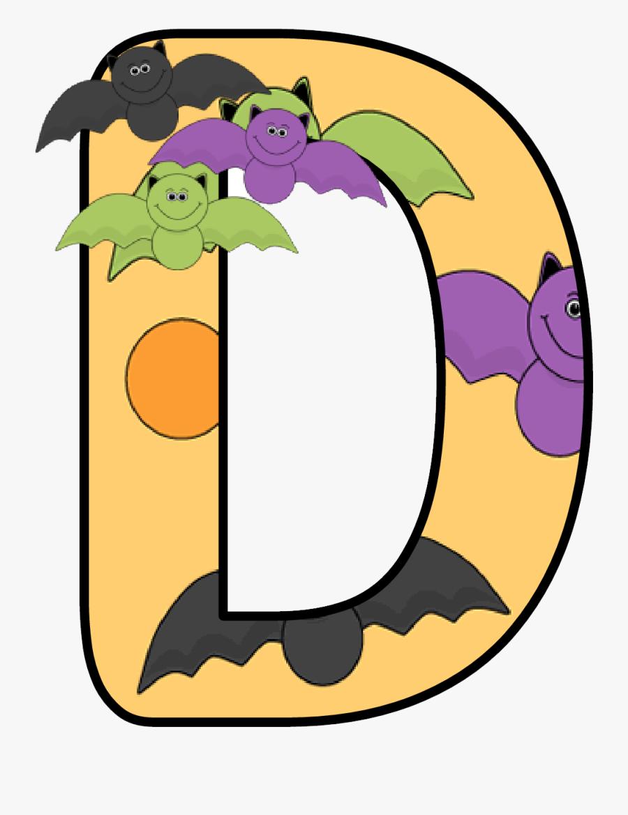 Halloween Alphabet Letters, Transparent Clipart