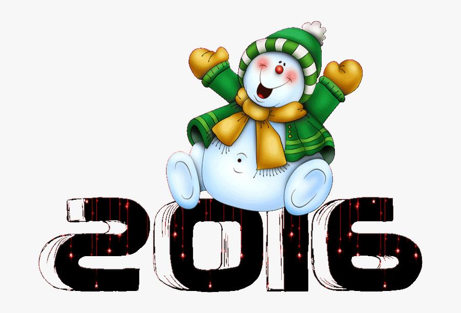 2016 Snow Man Snowman Snow New Year Happy Bear Y D - Cartoon Snowman Clipart Free, Transparent Clipart