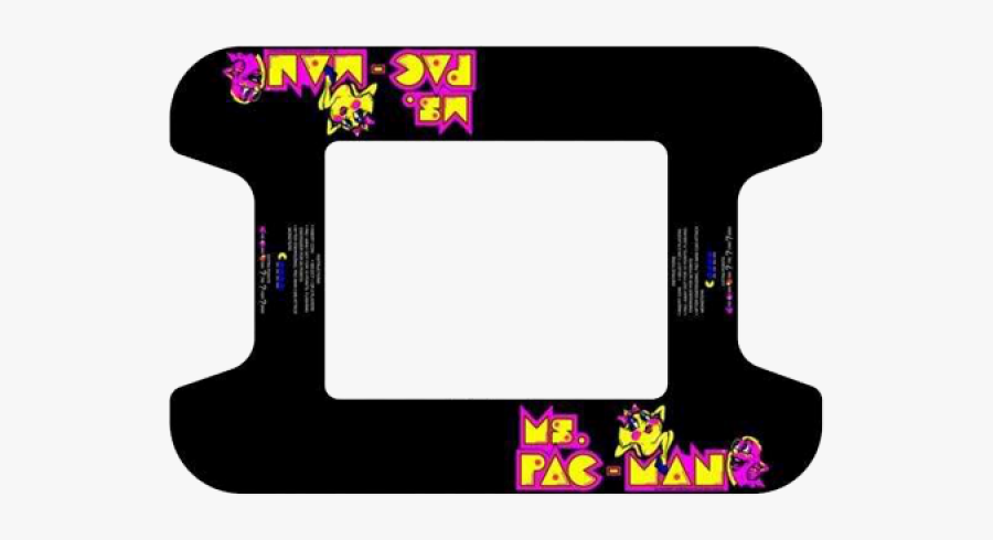 Space Invaders Clipart Galaga - Ms Pac Man Cocktail Machine Underlay, Transparent Clipart
