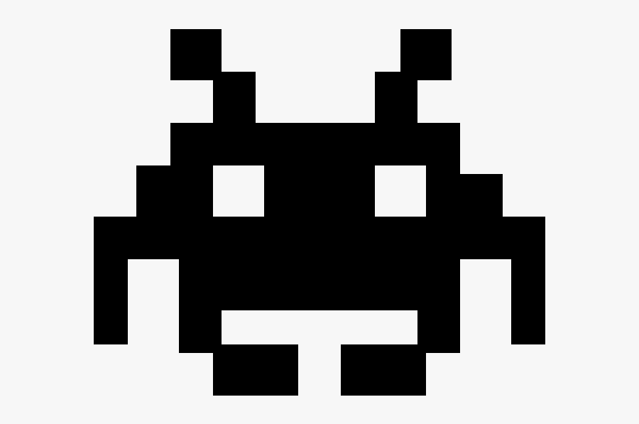 Space Invaders Drawing, Transparent Clipart