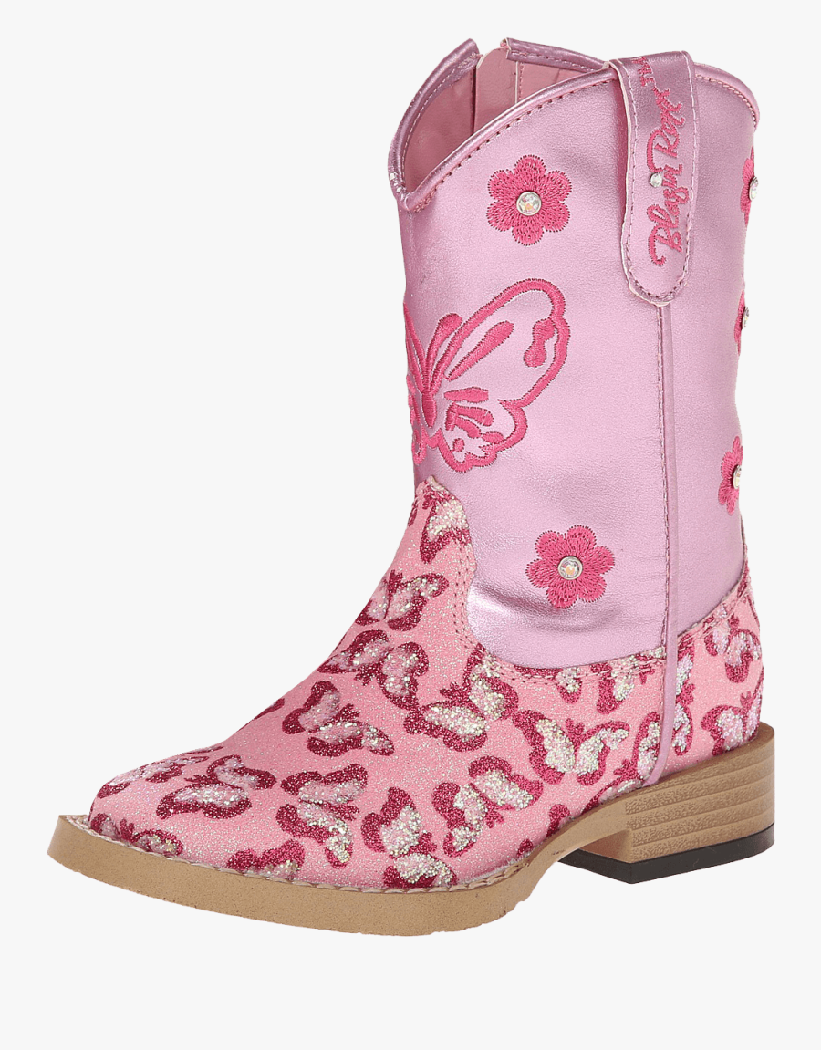 Transparent Boot Pink - Cowboy Boot, Transparent Clipart