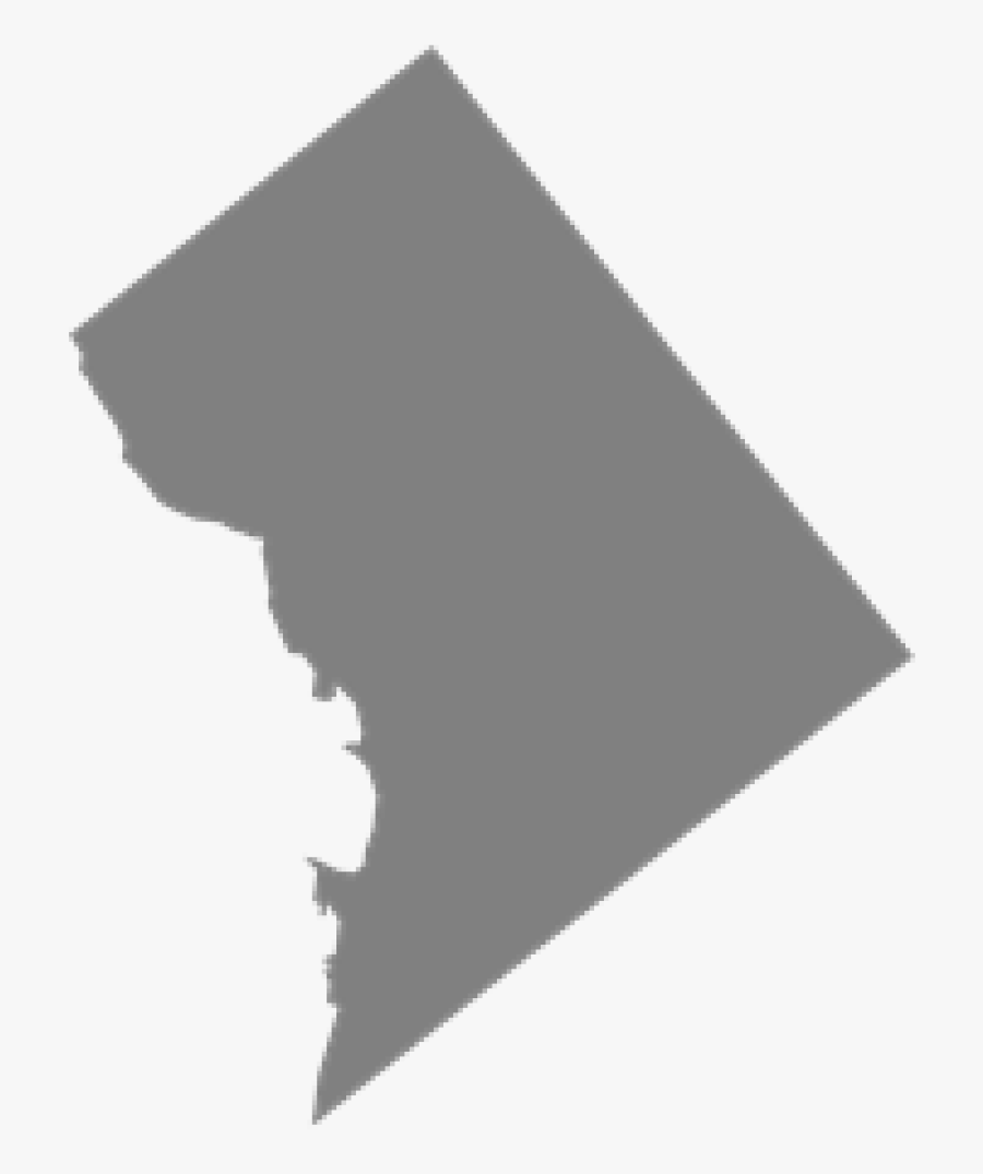 District Of Columbia State Shape, Transparent Clipart