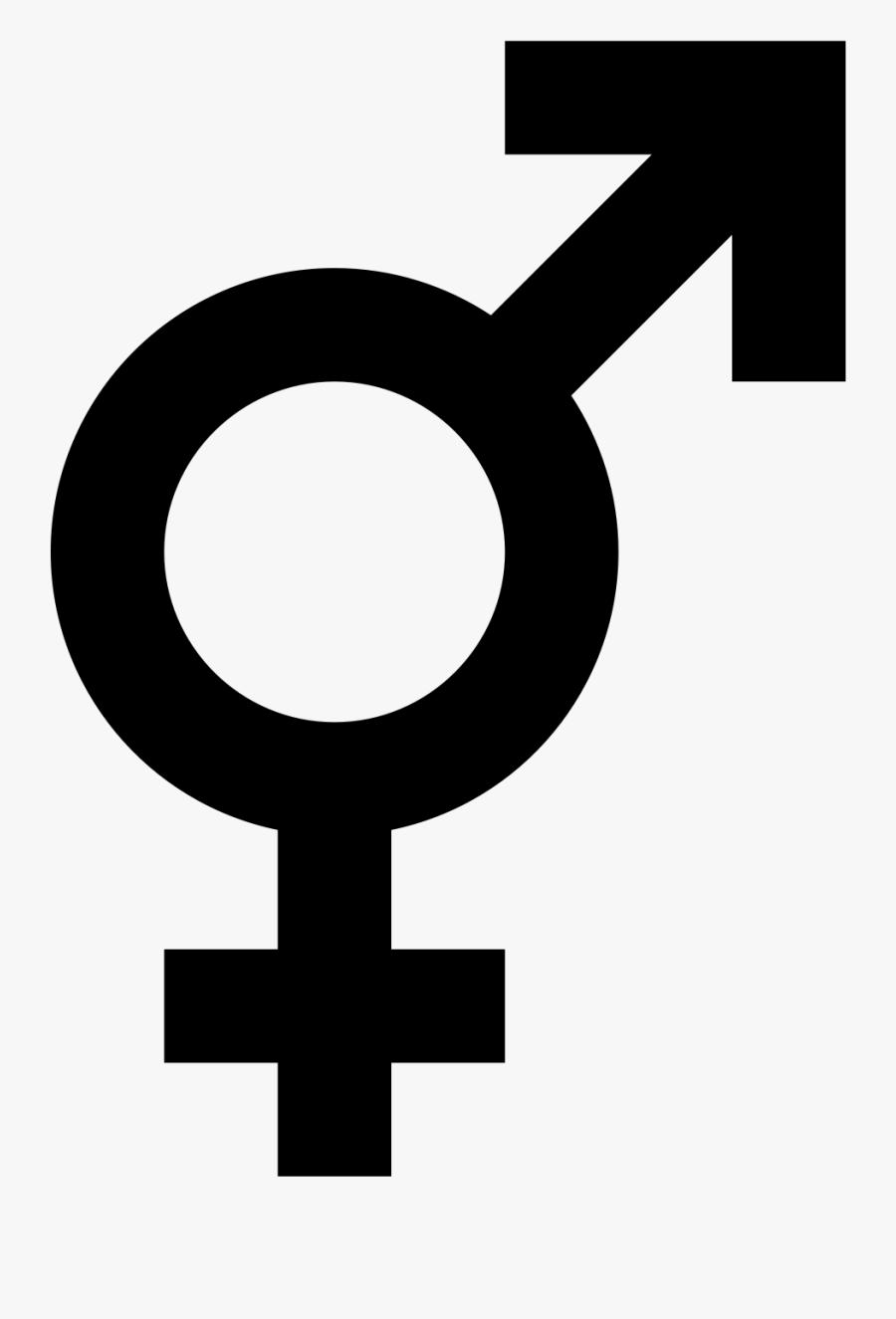 Male Female Symbol Png, Transparent Clipart