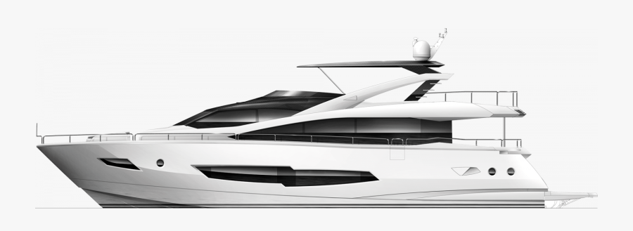 Transparent Yacht Clipart Black And White - Yacht, Transparent Clipart