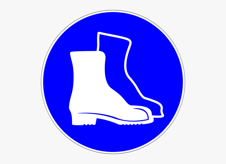 Safety Boots Sign Png, Transparent Clipart