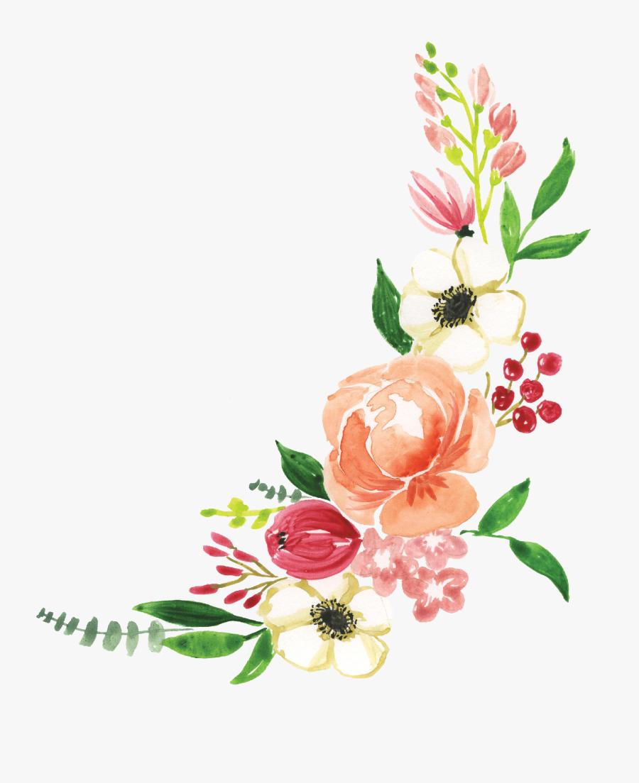 Flower Corner Print & Cut File - Flower Corner Design Png, Transparent Clipart