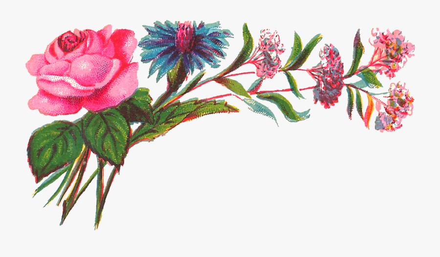 Colorful Floral Design Png, Transparent Clipart
