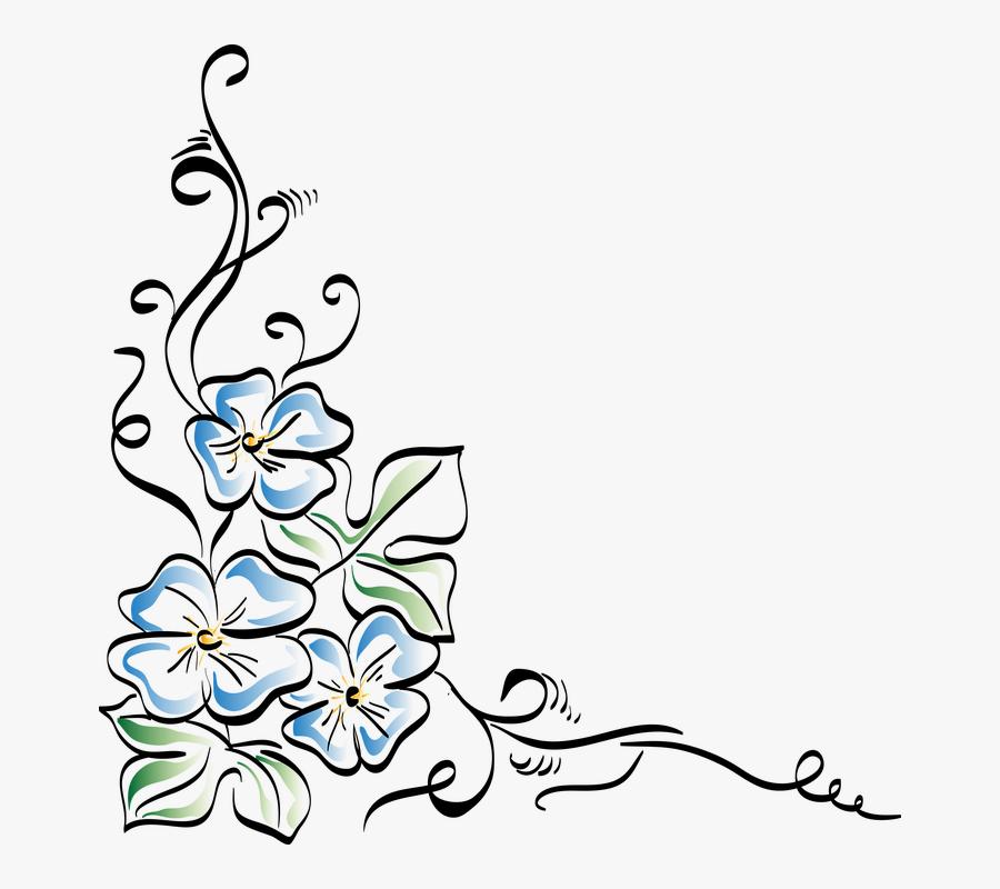 Flowers Corner, Flower, Nature, Beautiful Flower, Plant - Floral Drawing Designs, Transparent Clipart