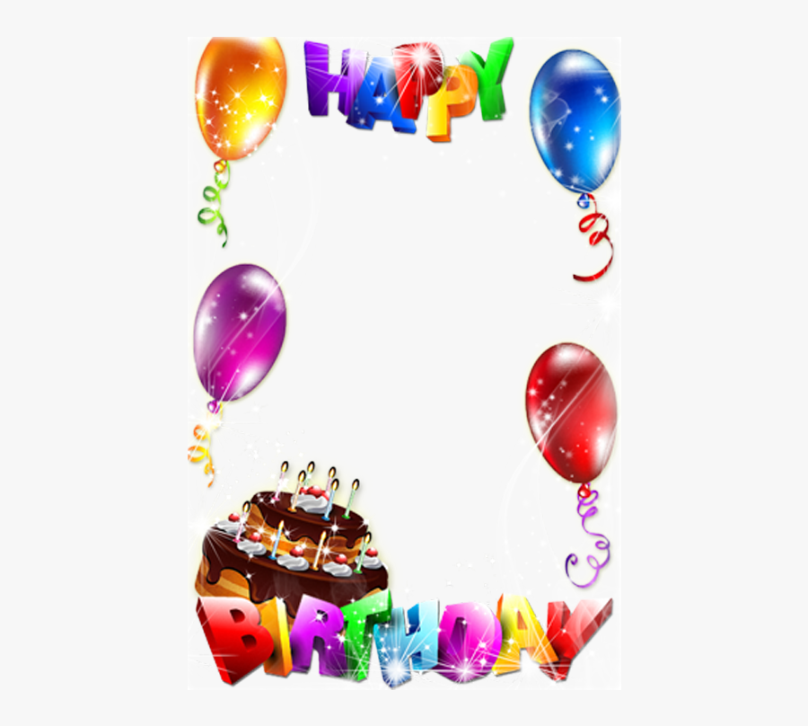 Birthday Cake Picture Frame Clip Art - Birthday Photo Frame Download, Transparent Clipart