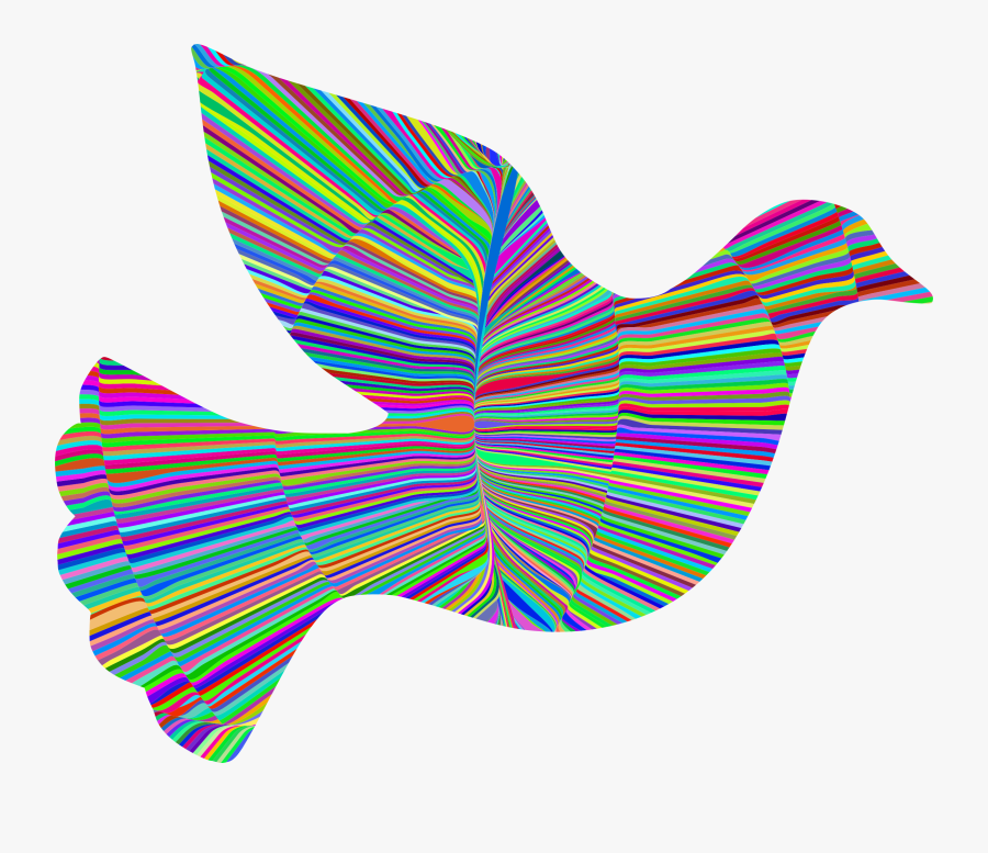 Peace Dove Clipart , Png Download - Colourful Peace And Dove Art, Transparent Clipart