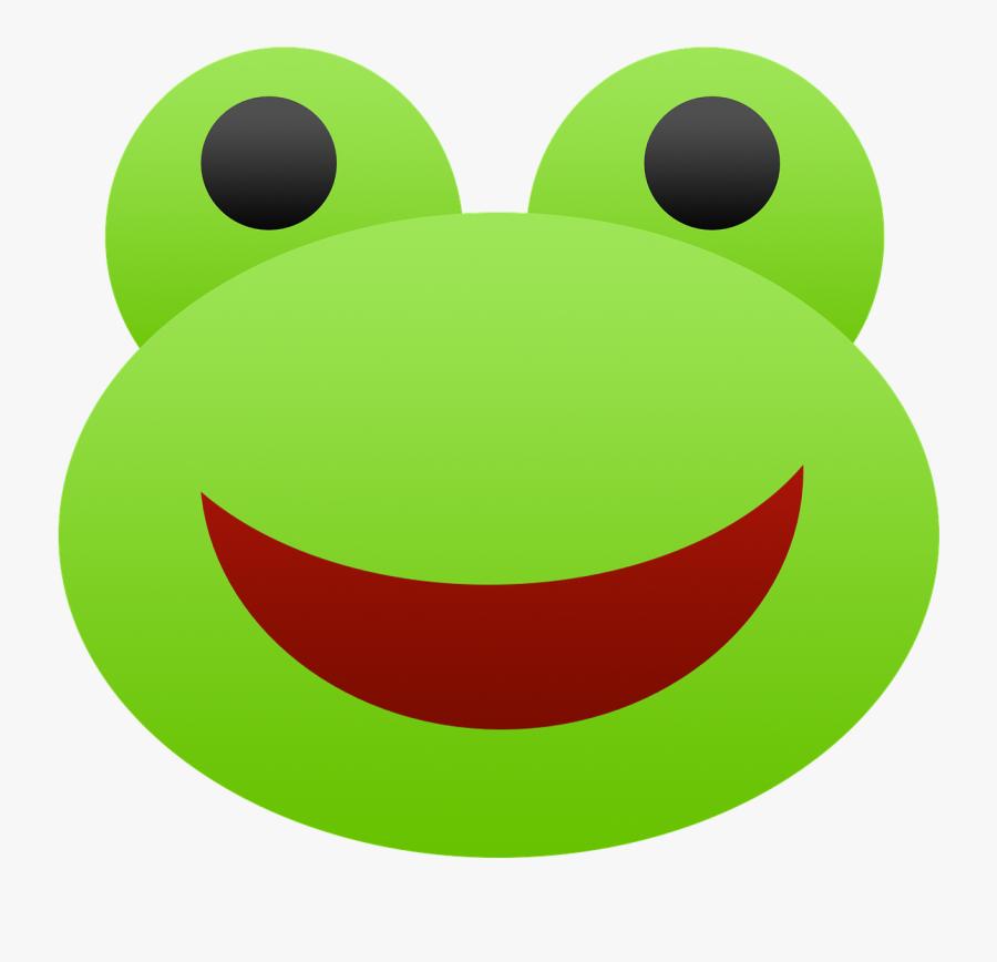 Frog Emoji Green Free Photo - Gambar Kepala Katak Kartun, Transparent Clipart