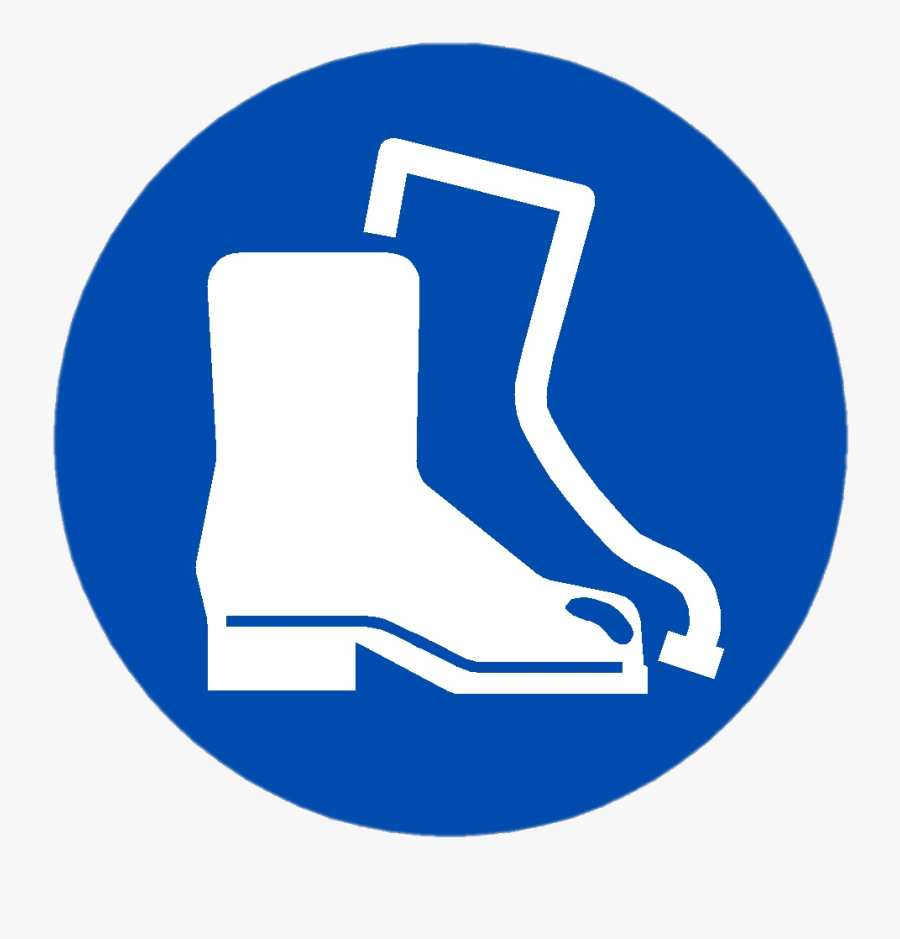 Feet Protection Symbol - Wear Safety Boots Sign, Transparent Clipart