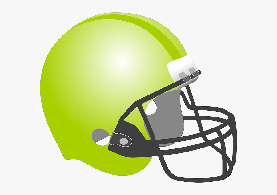 Football, Baseball, Helmet, Protection, Sport, Green - Gold Football Helmet Clipart, Transparent Clipart