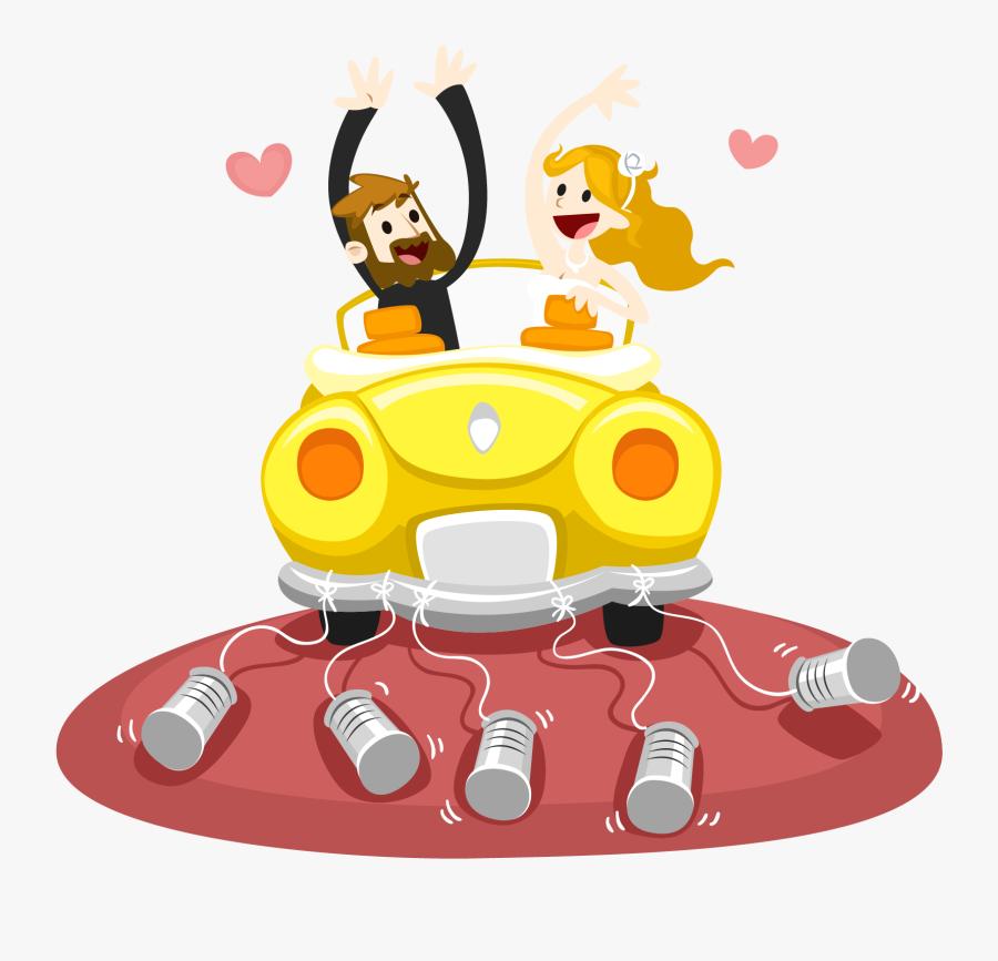 Car Marriage Download Euclidean Vector Couple - Метрика Постер Свадебные, Transparent Clipart