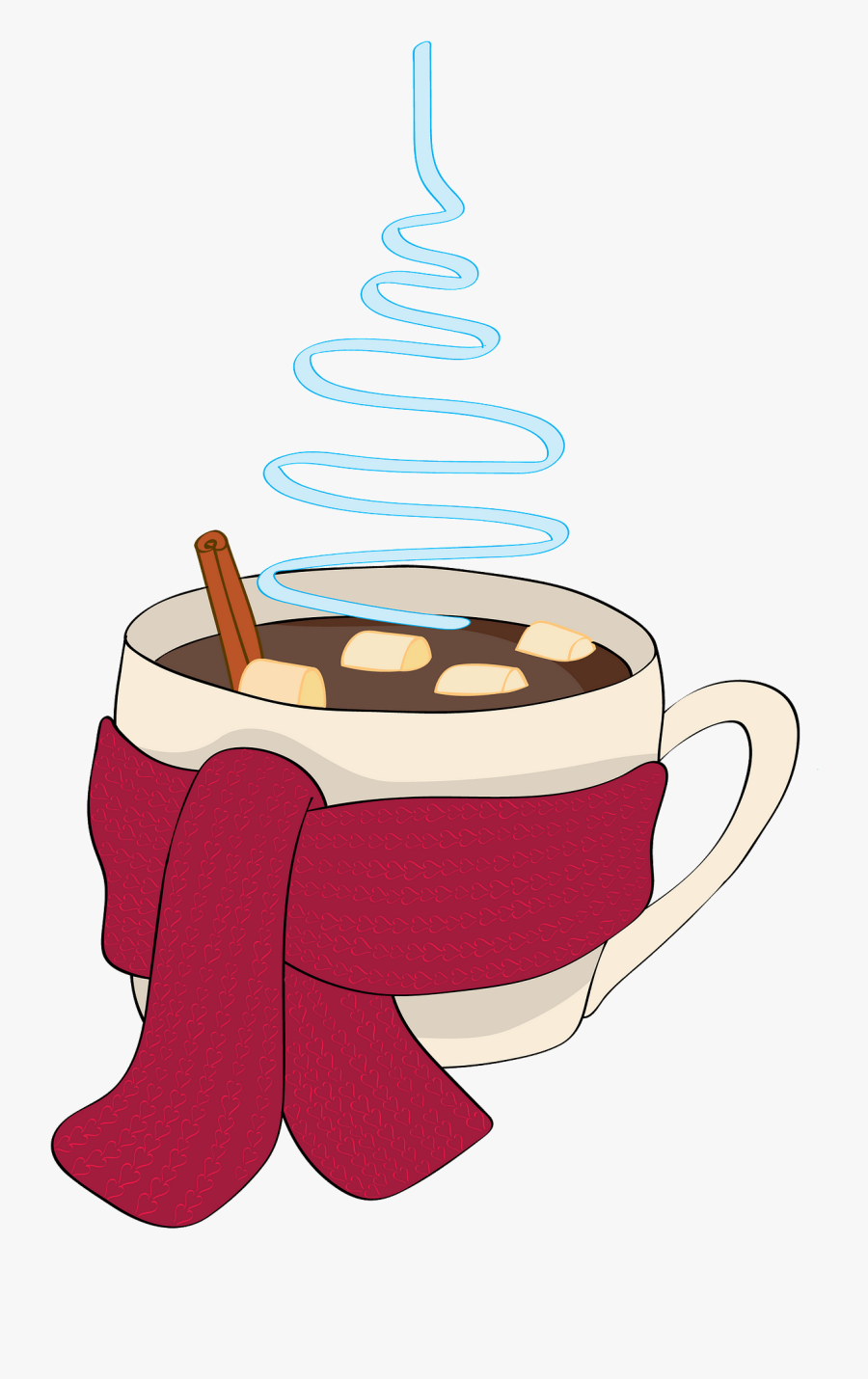 Christmas Hot Drink Vector Png, Transparent Clipart