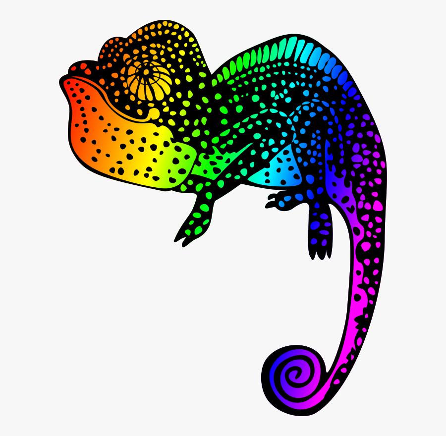 Chameleon - Chameleon Line Art Drawing, Transparent Clipart