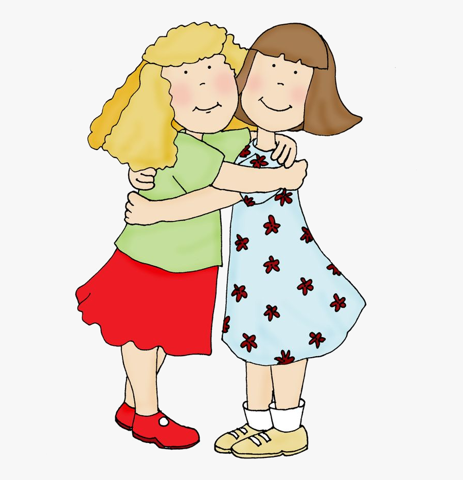 Transparent People Hugging Clipart - Friends Hug Clipart, Transparent Clipart